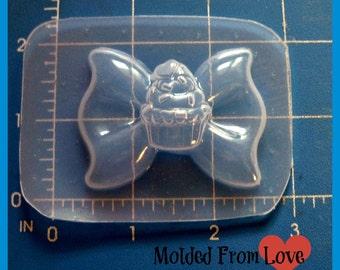 SALE My Cupcake Bow  Flexible Plastic Handmade Resin Mold-