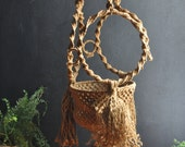 Vintage Huge Macrame Plant Holder 70s Handmade Home decor