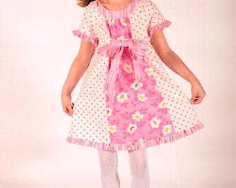 Girl's Dress, Birthday Party dress, Girls Clothing, Easter Dress, Girls Dresses, pink dress, size 6 dress