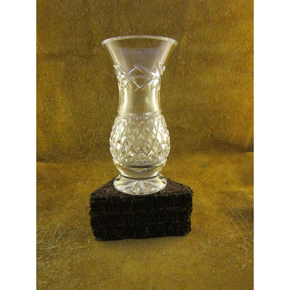 Small Leah Galway Crystal Vase Hourglass Vase