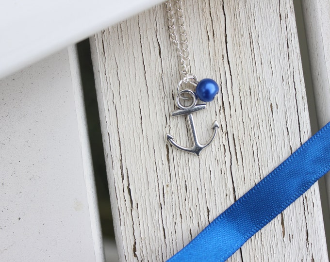 Anchors away, Nautical themed travel necklace.