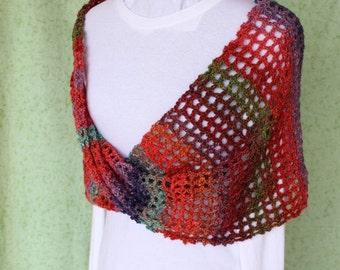 Crocheted Wrap Pattern, Trellis Crochet Patterns, Crochet Pattern for Mobius Wrap, Crochet Cowl Pattern, Easy to Crochet Patterns