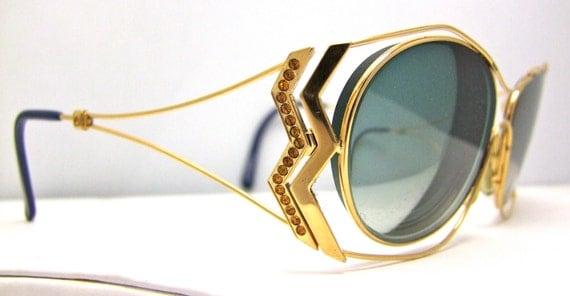 Designer Eyeglass Frames With Rhinestones : Designer Viennaline Rhinestone Eyeglasses by ifoundgallery