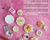 Miniature Food Tutorial - How to Sculpt Miniature Breakfast Foods from Polymer Clay (Dollhouse, Food Jewelry Tutorial eBook)