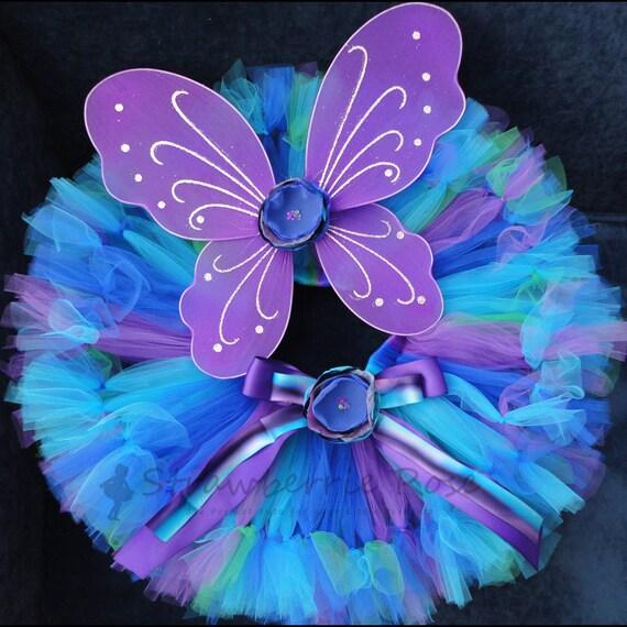 Baby Girls Birthday Tutu Dress Outfit, Peacock Fairy Birthday Tutu Costume
