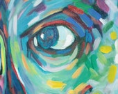 "Painting Male Portrait, Acrylic, Figurative, Colorful  ""Boy Crush"""