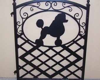 Fence Gate Ornamental Iron Poodle Silhouette