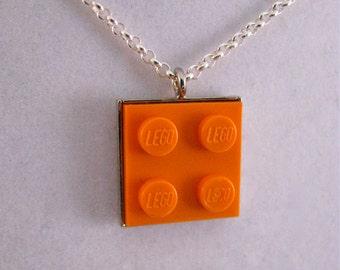 Orange 2x2 Brick Necklace