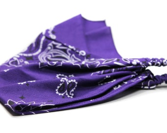 Bandana Kerchief, Purple Bandanna, Purple Kerchief, Lightweight Kerchief, Royal Purple Cotton Bandana (#3011) S M L