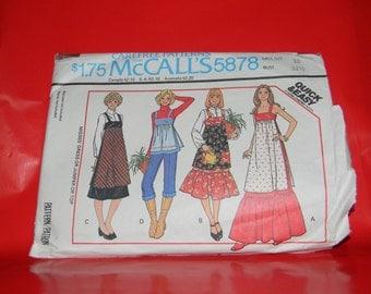 Vintage pattern McCalls Misses Dress or Jumper or Top Sewing Patten