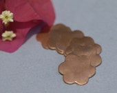 Copper Flower 20mm Blank Cutout for Enameling Stamping Texturing Blanks