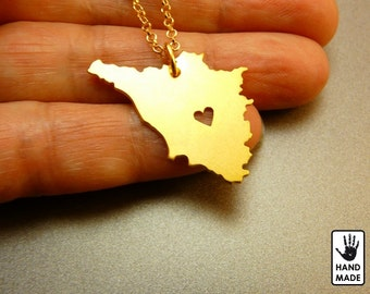 TUSCANY Italy Handmade Personalized Goldplated Sterling Silver .925 Necklace in a gift box