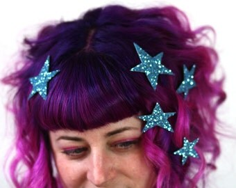 Star Hair Adornments, Floating Hair Accessory, Glitter