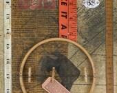 Ida Surely Is A Dandy original assemblage art by Leslee Lukosh of Foundturtle in Portland, Oregon