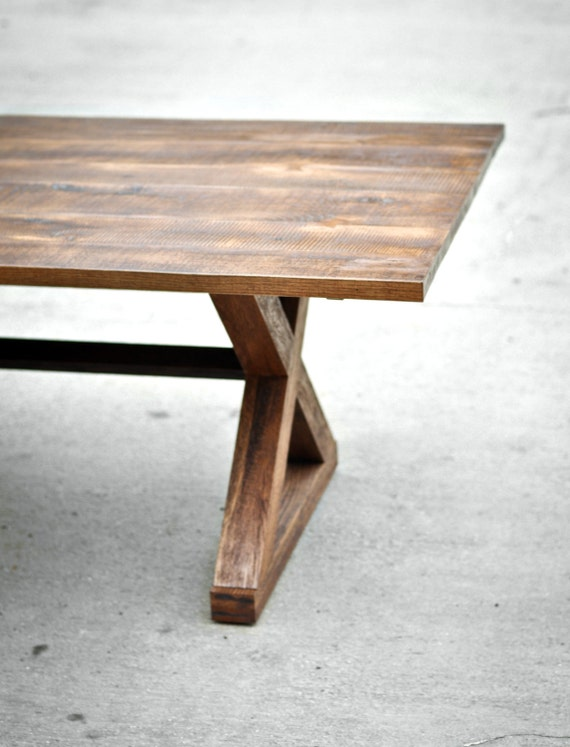 Reclaimed Wood Dining Table The Kinzua Custom Furniture Solid Hardwood Handmade In The