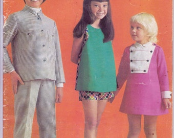 70s Vintage Sewing Pattern Drafting Book Enid Gilchrist's GIRLS GEAR Dresses Flares Culottes Shifts etc Size 5 to 12 years