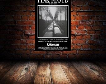 Pink Floyd 1988 Cleveland Concert Poster