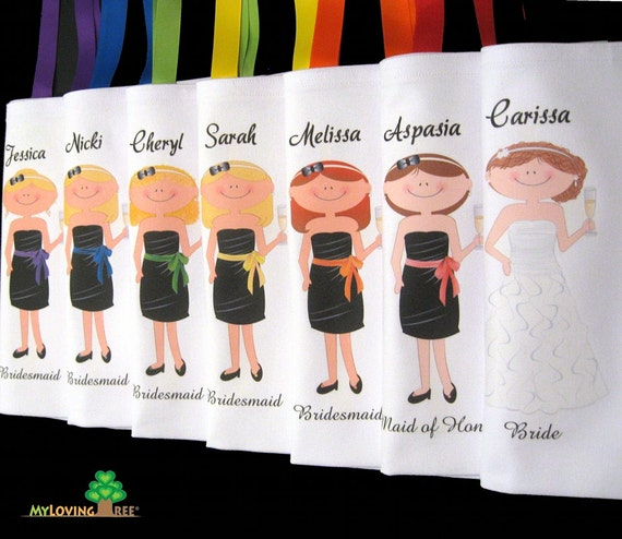 Bridesmaids gifts Maid of honor Mother of the bride gift bags ...