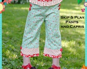 PDF Pants Pattern - Skip and Play Pants and Capris, Size 6 Month - 10 Years by The Cottage Mama