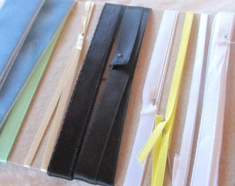 NOVELTY RIBBON TRIM -assortment of remnants-- approximately 10 yards