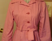 1950s Pink Cotton Candy Coat Dress.