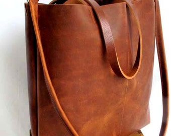 Brown leather bag | Etsy