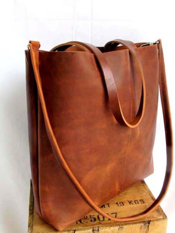 Brown Leather Tote Bag brown leather bag large brown tote
