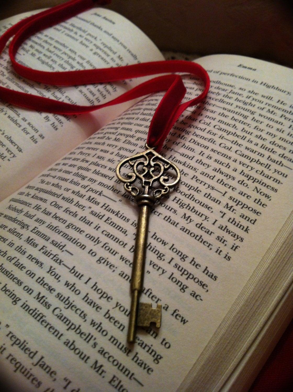 Vintage Style Skeleton Key Ribbon Bookmark By Claudiascottage