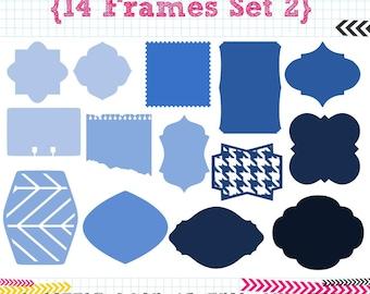 14 Frames SET 2 SVG DXF cut files