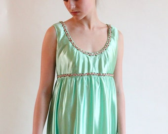 grecian dress - 70s empire waist dress