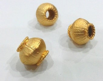 Gold Plated Brass Large  Beads   G253