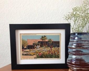 In the Center, Palm Springs, California - framed vintage postcard