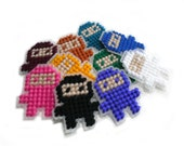 Pixel Ninja - Magnet - Pixel Sprite Art - Choose one of any color