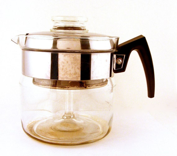 Pyrex Coffee Maker How To Use : Pyrex Coffee Pot Percolator Flameware Bakelite Handle