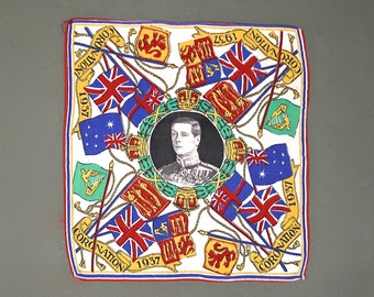 Royal Coronation Handkerchief, English 1937