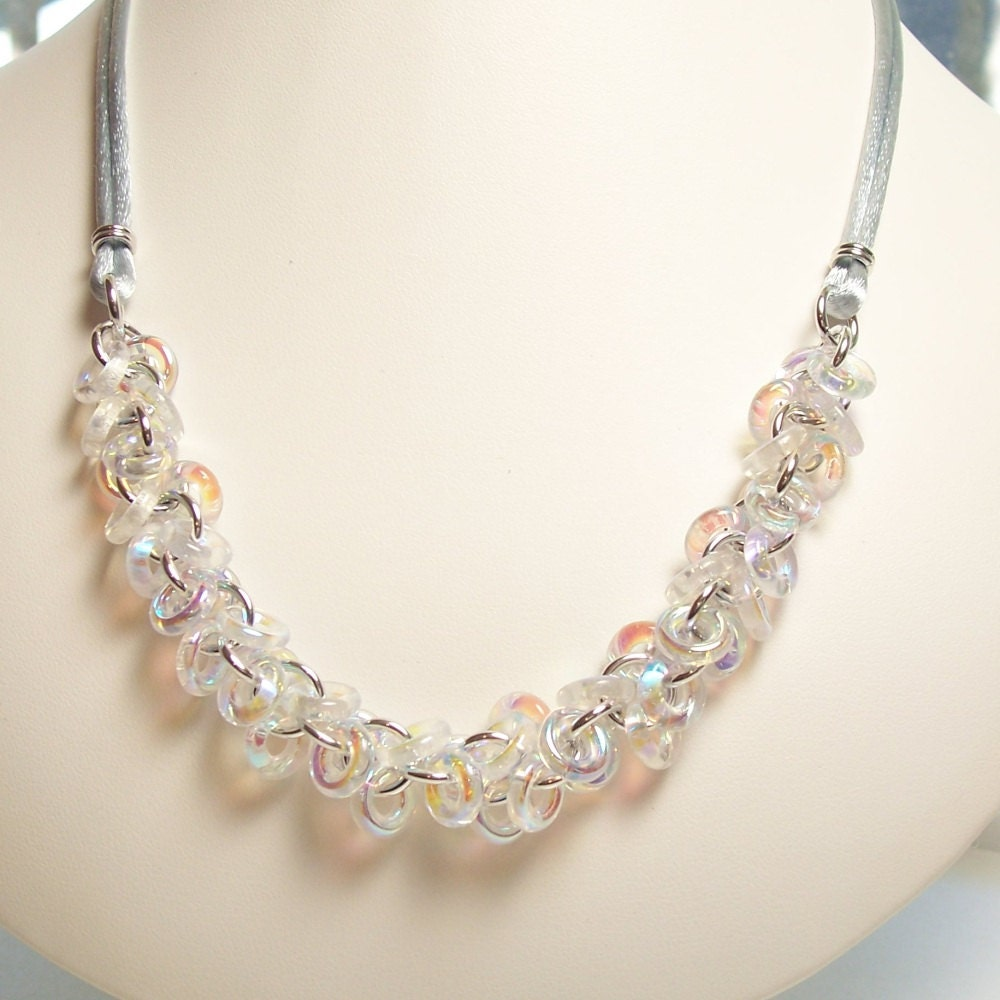 clear ab glass shaggy loops chain by katestriepenjewelry