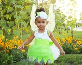 Tinker Bell inspired Dress Up Costume Apron, Tiny fairy Style...Made to Order