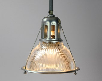 Vintage Industrial Holophane Lobay No. 684 Light