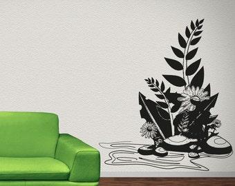 Vinyl Wall Decal Sticker Nature Flower OSAA1216s