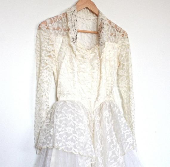 Vintage 40s Style Wedding Dresses : Vintage s wedding dress princess grace style