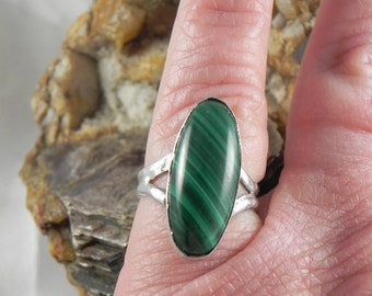 Sterling Malachite Ring
