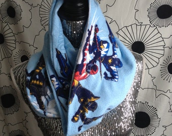 Vintage Power Rangers Infinity Flannel 90s Scarf
