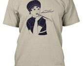 Jane Austen Sense and Sensational Mens/Unisex T-Shirt in Sand Color
