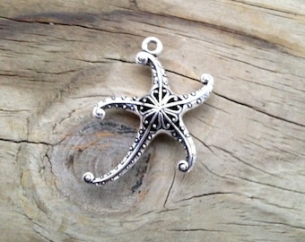 Large Sea Star or Starfish Pendant - 45mm x 34mm