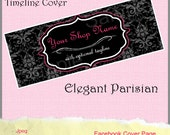 CUSTOMIZED BANNER - Elegant Parisian Facebook Page Timeline Cover Premade