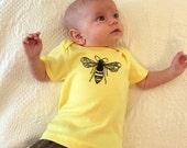 The Bee Tee Shirt - American Apparel Lemon Yellow Tshirt