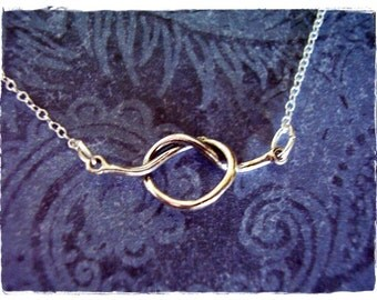 Silver Lover's Knot Necklace - Sterling Silver Lover's Knot Charm on a Delicate Sterling Silver Cable Chain or Charm Only