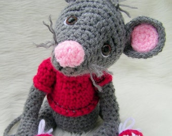 Crochet Pattern Cute Mouse by Teri Crews Wool and Whims Instant Download PDF Format