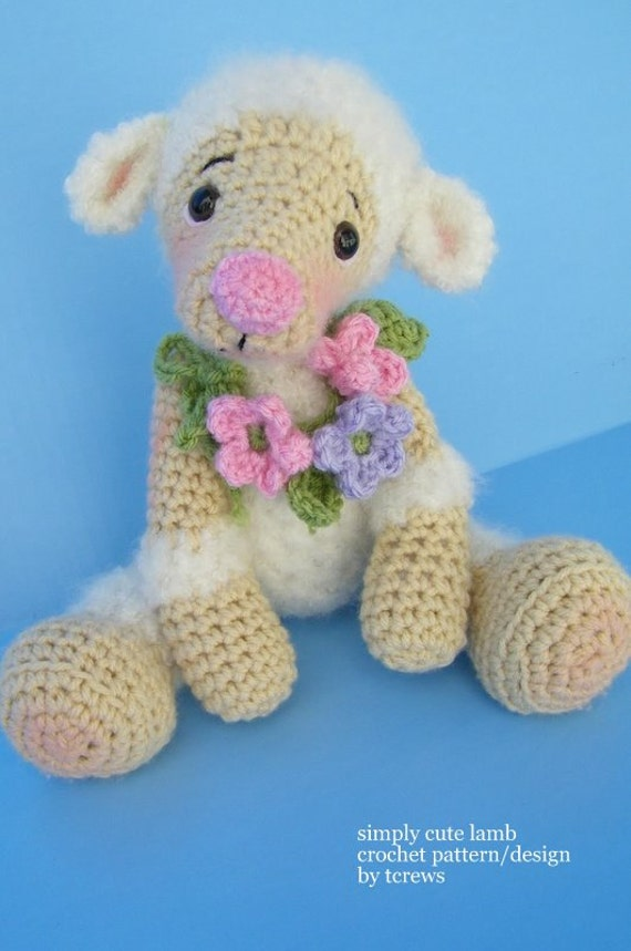 Free Crochet Pattern Baby Lamb : Crochet Pattern Lamb by Teri Crews instant download PDF format