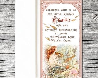 Whimsical Mermaid Invitations